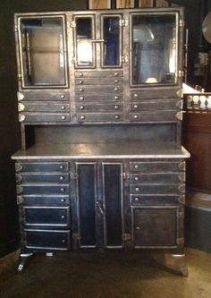 Early To Mid Century Industrial Metal Dental Cabinet | Pinterest |  Industrial Metal, Dental And Industrial