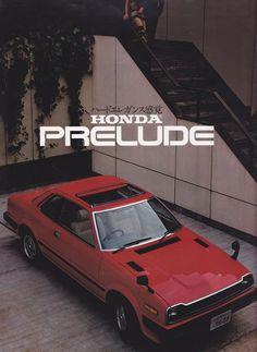 Honda Prelude Japan Broschüre 1980 – Derrick Martins – Join in the world of pin Classic Japanese Cars, Japanese Sports Cars, Classic Cars, Honda Prelude, Honda Fit, Mk1, Honda Civic, Soichiro Honda, Ad Car