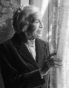 """Roderick Lyons, 1991, Portrait of Rosa Parks """"No one can make you feel inferior without your consent.""""(Eleanor Roosevelt)"""