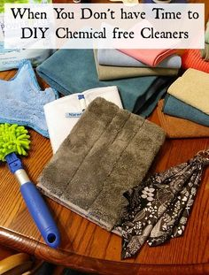 When you don't have time to diy all your cleaners but want to avoid chemicals, use Norwex microfiber cloths and get great results all while doing chemical free cleaning. Click the photo for more info.