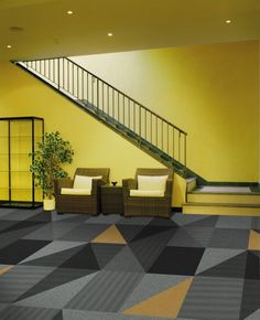 Zesty Mono in Action with #Interface #Carpet Tiles