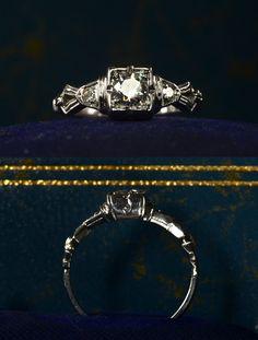 1930's Art Deco diamond ring, $795