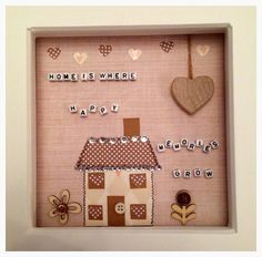 Home is where happy memories grow, new home moving in gift, personalise to match colour scheme on Etsy, £10.00