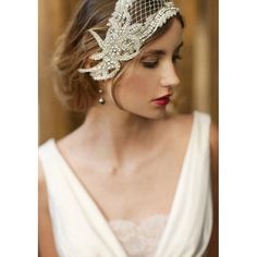 Ready to ship in Ivory Deco Bridal Cap 737 by EricaElizabethDesign, $225.00