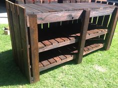 Bbq rolling cart table | Grilling | Pinterest | Woodworking