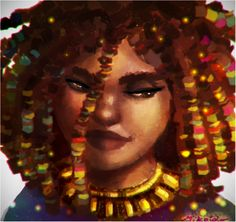 Afro girl by MiKeiLo