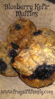 Frugal Fit Family Recipes: Blueberry Kefir Muffins