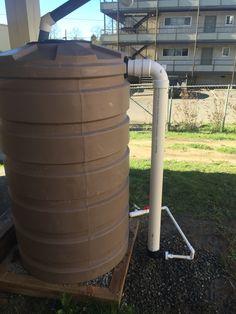 205 gallon rain tank installation