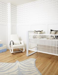"SISSY+MARLEY for Jill Malek ""Zee"" Wallpaper - we love this for a bright gender neutral nursery or space!"