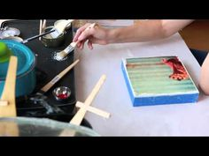 ***▶ Fine art Encaustic and Photography Demo by Norah Levine, Austin Texas - YouTube-Love this!
