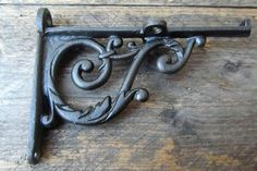 Pair of Victorian Scroll Cast Iron Shelf Bracket Vintage Rustic Style, Antique Style  Custom Orders Welcome
