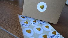 Gold Foiled 3d Heart Stickers!!! ON MY ETSY SHOP! click on the image to see the listing! ^_^