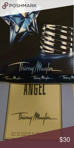 Thierry Mugler Angel Eau de Parfum At 1.7 oz, this fragrance is all drama. Fresh, fruity, and floral, this wonderful scent is the best accessory you can wear with your favorite outfit. In this limited edition set, your full size fragrance includes a silver cuff (pictured on the box). Thierry Mugler Makeup