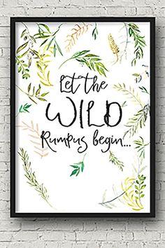 Let the WILD rumpus begin... by Printce on Etsy