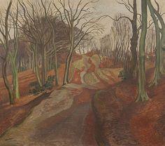 "terminusantequem: ""John Nash (British, Winter in a beechwood. Oil on canvas, 67 x 76 cm x 29 in. Landscape Art, Landscape Paintings, John Nash, Francisco Goya, Impressionist Artists, English Artists, Fine Art, Edouard Vuillard, Famous Artists"