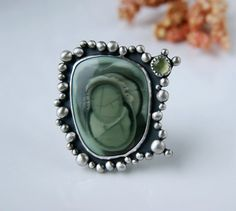 How the Sun Made Life -  Imperial Jasper Sterling Silver Ring  by MercuryOrchid