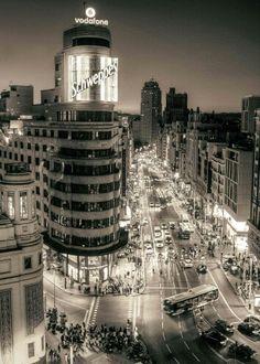 Black and white Madrid