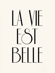 La Vie Est Belle French Poster Print - Life is Beautiful - Pink