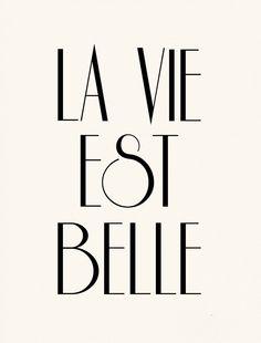 La Vie Est Belle French Poster Print -