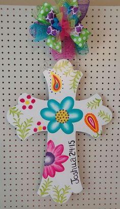 Pintado A Mano Madera Colgador Para Puerta De Cruz Con Escritura Flores Paisley | Hogar y jardín, Decoración para interiores, Decoraciones para puertas | eBay!