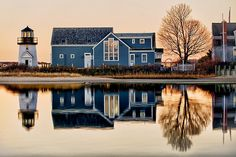 This is my Aunt's house on Cape Cod. The colors have been altered but it's very pretty!