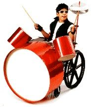 Halloween Costumes for Wheelchairs - Drummer