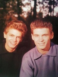 Phil Everly, left and Don Everly, right - The Everly Brothers