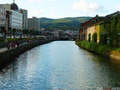 Otaru's main tourist attraction, the Otaru Canal;  Photo Credit:  Zachary Reed  #Japan