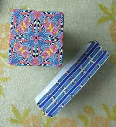 Polymer Clay Kaleidoscope & Border Canes by auntgriz, via Flickr