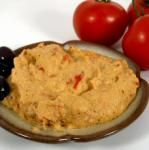 Spicy Red Pepper Hummus and a Movie