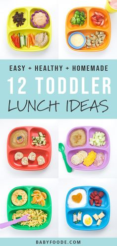 These 12 Healthy Toddler Lunches are healthy, fruit and veggie packed, balanced meals that wi. - These 12 Healthy Toddler Lunches are healthy, fruit and veggie packed, balanced meals that will be - Healthy Toddler Lunches, Healthy Toddler Meals, Toddler Snacks, Healthy Kids, Healthy Recipes For Toddlers, Toddler Dinners, Toddler Food Picky, Toddler Lunch Recipes, Toddler Meal Plans