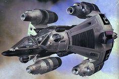 Gunstar - advanced prototype (The Last Starfighter - 1984) ... Production Design: Ron Cobb. Art Direction: James D. Bissell.