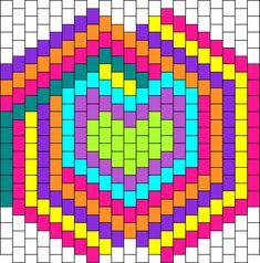 Kandi Patterns for Kandi Cuffs - Simple Pony Bead Patterns Kandi Mask Patterns, Pony Bead Patterns, Peyote Stitch Patterns, Beading Patterns Free, Rave Bracelets, Kandi Cuff, Tiny Cross Stitch, Graph Paper Art, Pixel Pattern