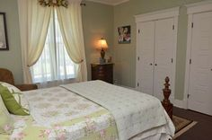"""Bedroom in Bed and Breakfast where """"Groundhog Day"""" was filmed."""