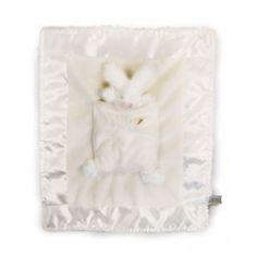 cute!  http://www.jasnor.com.au/animals/rabbit/lulla-bunny-bye-binkie-blanket-white