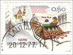 Joulumerkki 1976 Good Old Times, Postage Stamps, Finland, Fairy Tales, Nostalgia, Art Pieces, Childhood, Xmas, History