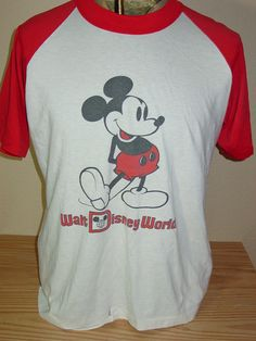 vintage 1980s Mickey Mouse Disney World t shirt 50/50 Large by vintagerhino247 on Etsy