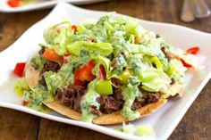 Healthy Black Bean Tostadas with Cilantro Sauce | Tasty Kitchen