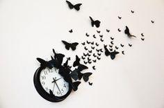 Pillangós óra - Színes Ötletek