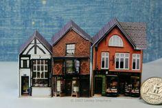 Photo Based Printable Miniature Village Buildings