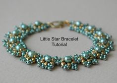 While the Little Star Bracelet has been carefully designed and written with the beginner beader in mind, more advanced beaders will enjoy a fast, simple project that works up quickly and easily. Materials – The original tutorial uses Miyuki Seed Beads in Sizes 8, 11 and 15, along with 4mm Pearls/Rounds. However the bracelet can be scaled up using Miyuki Seed Beads in Sizes 6, 8 and 11, along with 6mm Pearls/Rounds. This tutorial is available for purchase as an Instant Download. Feed...