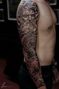 56 3D sleeve tattoo