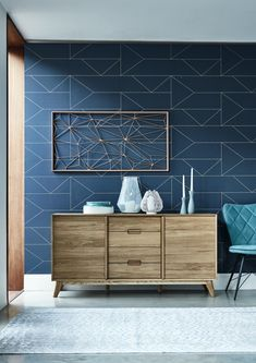 If you love Scandi interior style, opt for our simplistic Lund range. The Lund sideboard will make a timeless addition to your interior and now has off in our Spring Event! Oak Dining Chairs, Dining Room, Oak Sideboard, Modern Sideboard, Accent Wall Bedroom, Room Wallpaper, Scandi Wallpaper, Wallpaper Designs, Interior Decorating