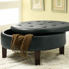 makes me think about the coffee table.  cut the top off, hinge it and make it a storage table.  maybe for art stuff.