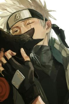 Kakashi's finally put off his mask and a fucking cat cover it although Kakashi likes dog.