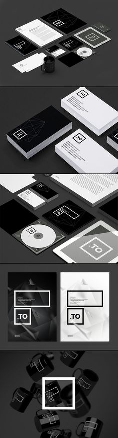 Graphic Black and White Brand Identity. The Cracow, Poland-based creative design and branding agency kreujemy.to updated their existing brand identity. Corporate Design, Brand Identity Design, Graphic Design Typography, Design Graphique, Art Graphique, Type Logo, Packaging Inspiration, Graphisches Design, Bussiness Card