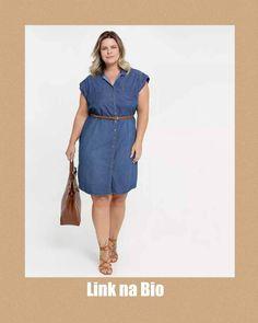 """Vestidos Básicos💃 (@vestidosbasicos) adicionou uma foto em sua respectiva conta do Instagram: """"Para comprar, só clicar no link da bio. Bjs.  Siga @vestidosbasicos   #vestido #vestidoplussize…"""" Vestidos Plus Size, Look, Shirt Dress, Casual, Shirts, Instagram, Dresses, Fashion, Vestidos"""