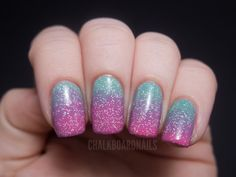 Springtime pink and green gradient