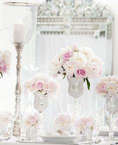 Tisch deko in Rosa