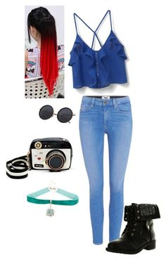 """""""Untitled #499"""" by sunnywinterday on Polyvore featuring Paige Denim, MANGO, Refresh and Betsey Johnson"""